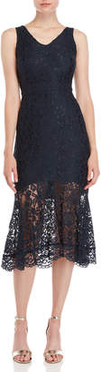 Nanette Lepore Nanette Lace V-Neck Midi Dress