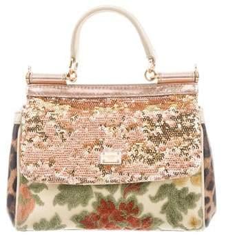 ee1afe50cee Dolce & Gabbana Sequined Mini Miss Sicily Bag