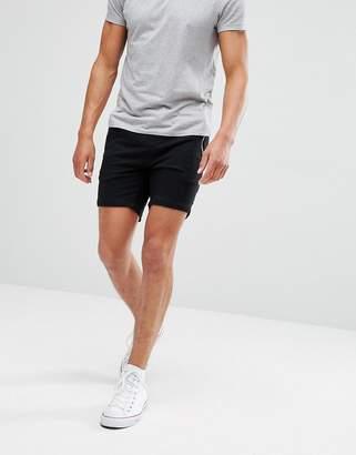 Brave Soul Cotton And Jersey Mix Stripe Waist Shorts