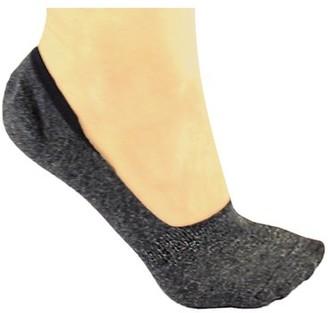DL furniture 6 Pack Dark gray Thin Casual No Show Socks Non Slip Flat Boat Line