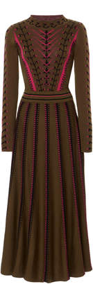Temperley London Ida Knit Flared Dress