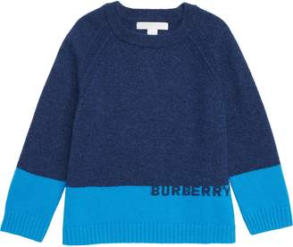 Burberry Logo Intarsia Pullover Sweater