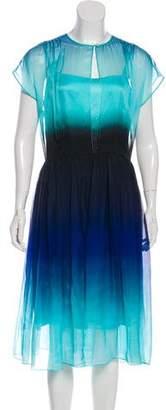 Jonathan Saunders Silk Ombré Dress