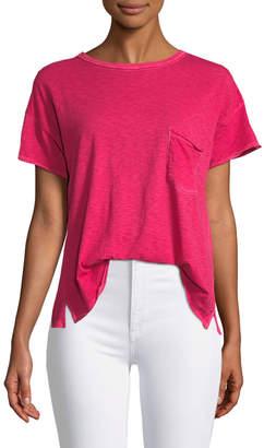 Rag & Bone Crewneck Short-Sleeve Cotton Pocket T-Shirt