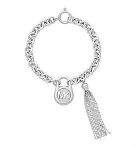 Michael Kors Logo Stainless Steel Padlock Bracelet