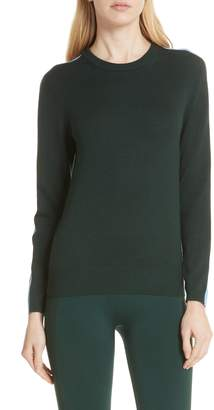 Tory Sport Double Stripe Performance Cashmere Sweater