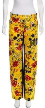 Dolce & Gabbana Floral Silk Pants