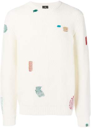 Paul Smith contrast stitch jumper