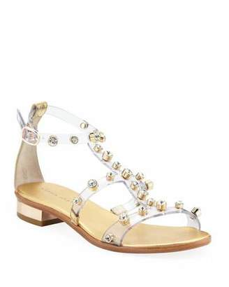 Sophia Webster Dina Studded Flat Sandals