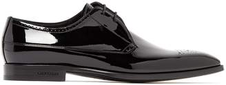 Burberry Cranbrook patent-leather derby shoes