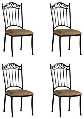 Bella Vita 0710 Wrought Iron Side Chair in Beige