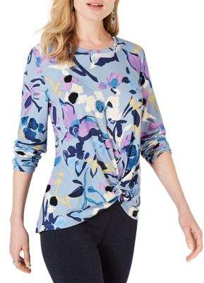 Style&Co. Style & Co. Petite High-Low Floral Top