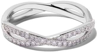 De Beers 18kt white gold Infinity full-pavé diamond band