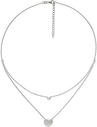 Folli Follie Fashionably love hearts sterling silver necklace