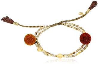 Tai Pom Pom Double Strand Bracelet