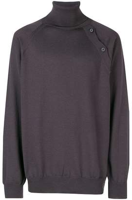 Lanvin roll neck side button sweater