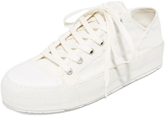 MM6 Canvas Lace Up Sneakers $380 thestylecure.com