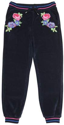 MSGM Embroidered Cotton Chenille Sweatpants