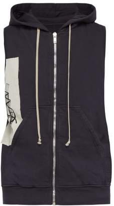 Rick Owens Sleeveless Cotton Hooded Sweatshirt - Mens - Black