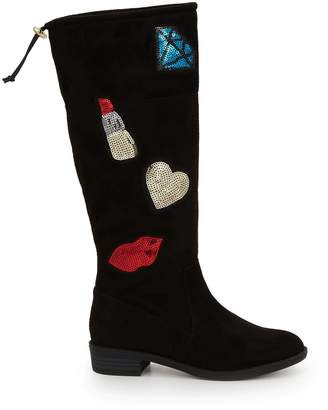 Sam Edelman Girls Pia Patches Tall Boot