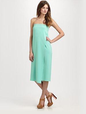 Matte Jersey Strapless Dress