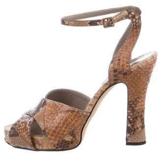 Marc Jacobs Python Crossover Sandals