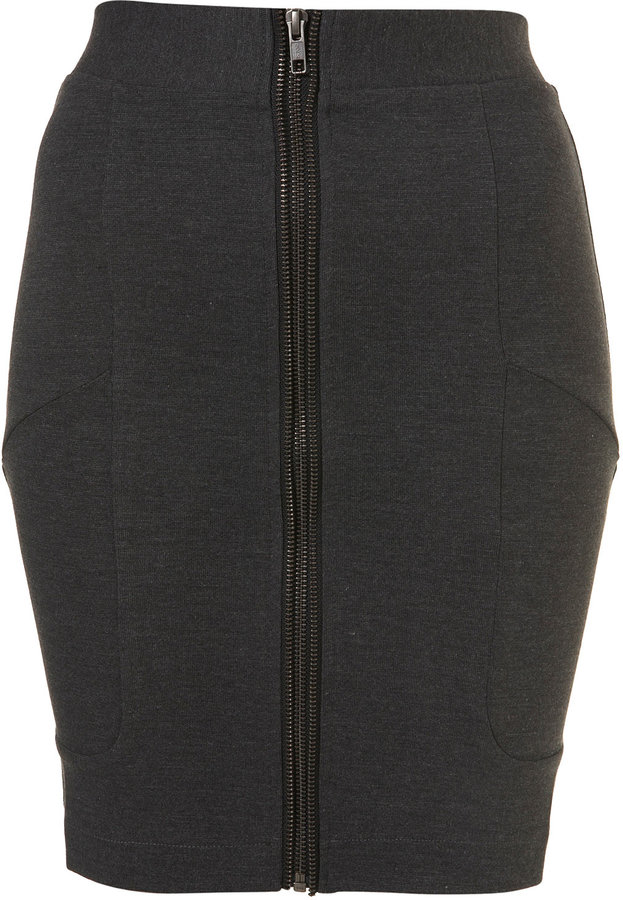 Double Zip Bodycon Skirt
