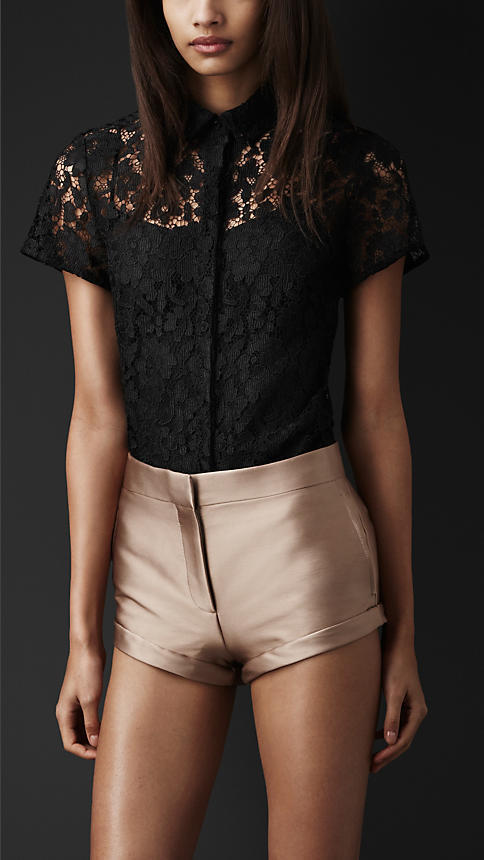Burberry Embroidered Lace Shirt