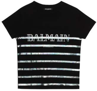 Balmain Kids Printed cotton T-shirt