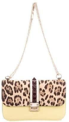 Valentino Ponyhair-Paneled Glam Lock Bag