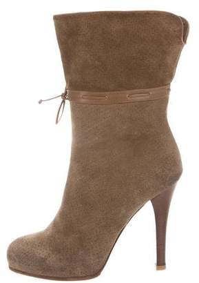 Bottega Veneta Perforated Suede Boots