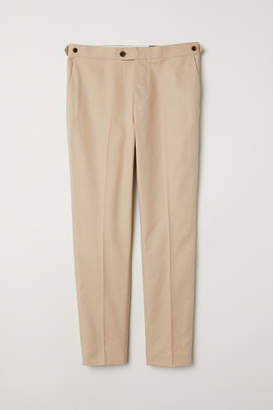 H&M Slim Fit Linen-blend Chinos - Beige