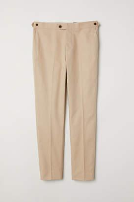 H&M Slim Fit Linen-blend Chinos - Beige