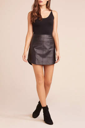 BB Dakota Conrad Leather Mini-Skirt