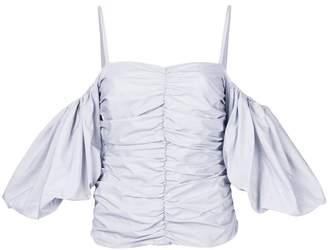 Isa Arfen striped off shoulder blouse