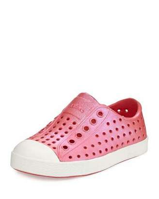 Native Jefferson Waterproof Iridescent Low-Top Shoe, Red/White, Youth $47 thestylecure.com