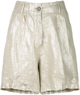 Forte Forte metallic fitted shorts
