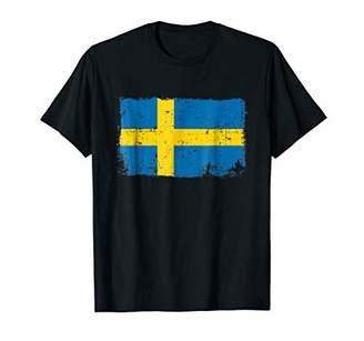 Sweden Flag T Shirt Distressed Vintage