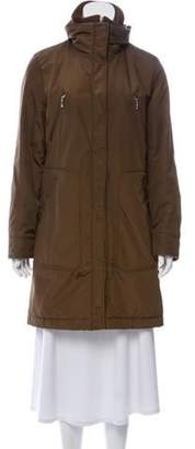 Post Card Knee-Length Puffer Coat Brown Knee-Length Puffer Coat