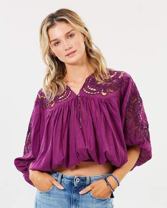 Free People Cutwork Dolman Blouse