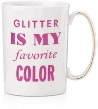 Kate Spade Simply Sparkling Glitter is my Favorite Color Mug
