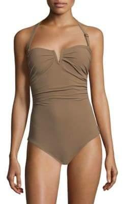 Shan One-Piece Les Essentiels Halter Swimsuit
