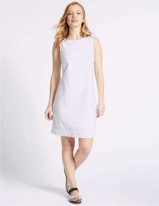 Marks and Spencer PETITE Linen Blend Tunic Dress