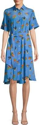 Max Mara Printed Silk Shirtdress