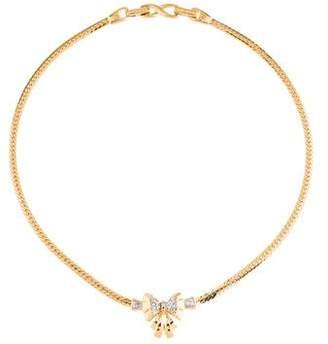 Nina Ricci Crystal Bow Pendant Necklace