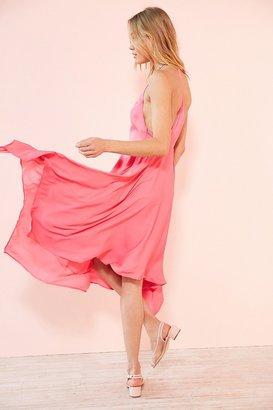 Kimchi Blue Vida Satin Handkerchief Midi Dress $89 thestylecure.com
