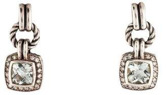 David Yurman Prasiolite & Diamond Renaissance Drop Earrings