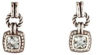 David Yurman Prasiolite & Diamond Renaissance Drop Earrings