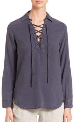 Bella Dahl Lace-Up Pullover