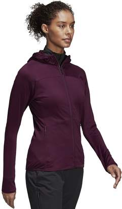 adidas Outdoor Women's Outdoor Tracerocker Hooded Fleece Jacket